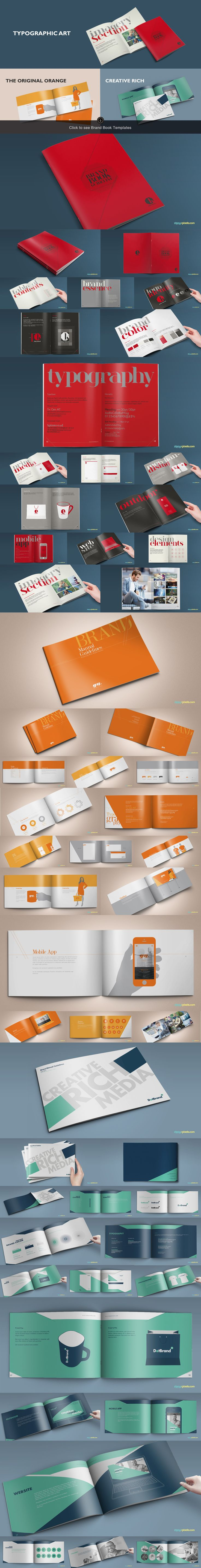 15 Brand Guidelines Templates Bundle by ZippyPixels on @creativemarket