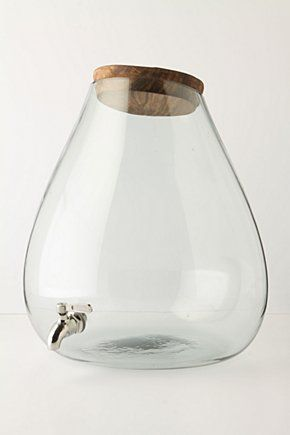 For summer parties -- Bubbled Beverage Dispenser by Anthropologie So tasteful!