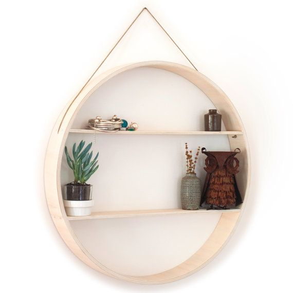 Plywood furniture, Shadow box Wall hanging shelf to display your vintage mid-century home wares! Industrial retro art Danish picture frame