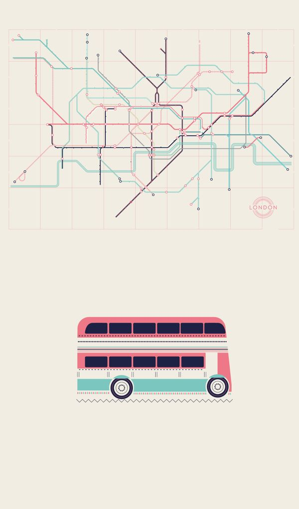 London by Verónica De Fazio, via Behance