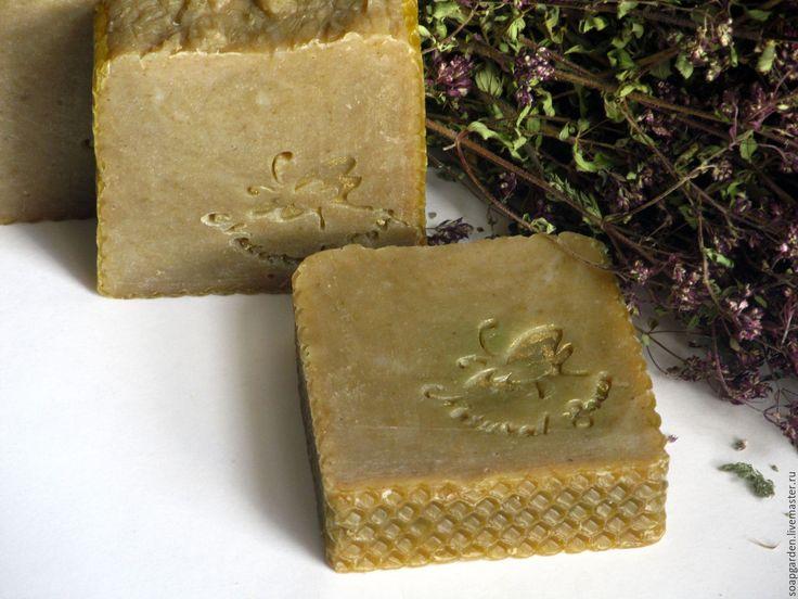"""Купить Мыло """"Мед-огурец"""" натуральное с нуля, зеленый чай, на травах, с медом - желтый"""