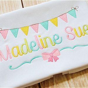 Madeline Embroidery Font Set