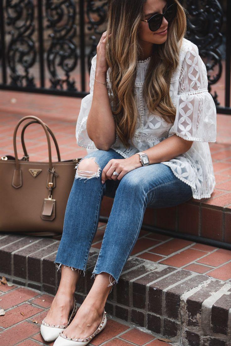 White Lace Peplum | The Teacher Diva | Bloglovin'
