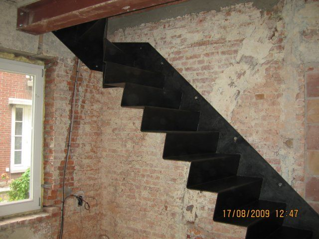 Trap staal - Metalen trap design hout ...