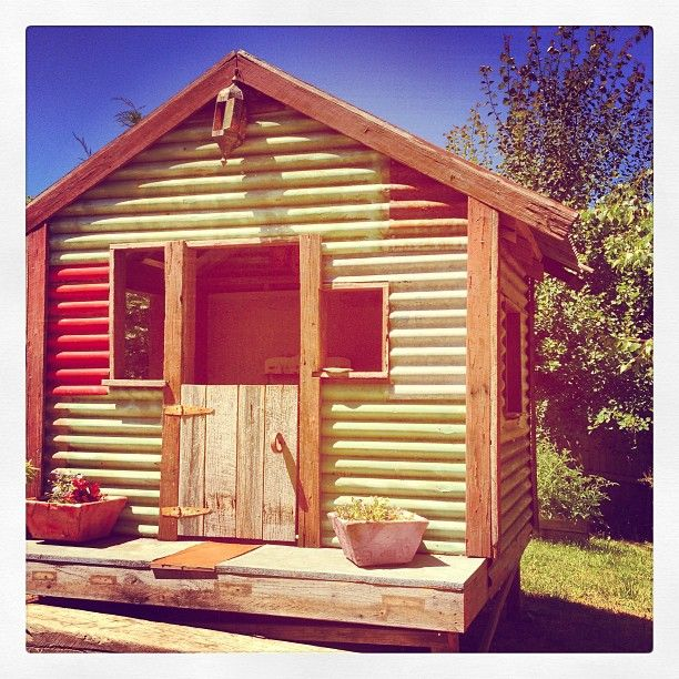 recycled, sustainable cubby house