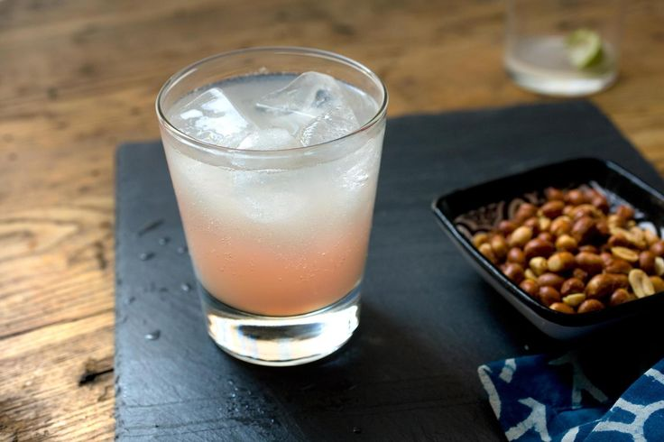 A bubbly margarita made with grapefruit soda.