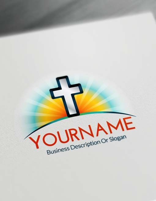 Online Design Your Own Modern Cross Logo Free Create And Doves Using The Best Creator
