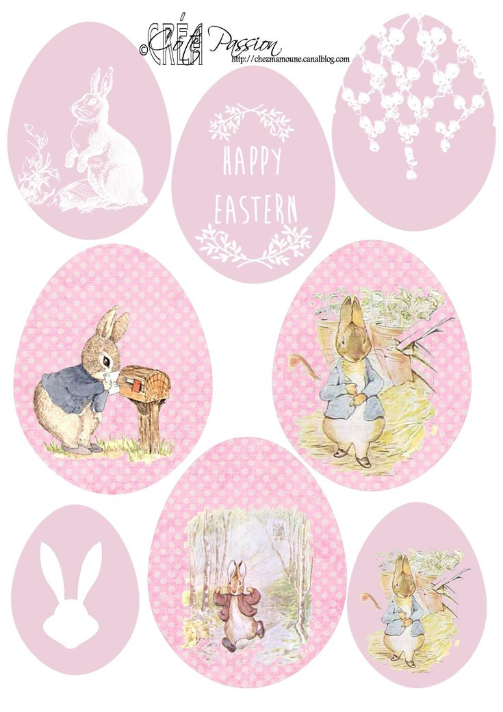 FREE printable egg shaped easter labels