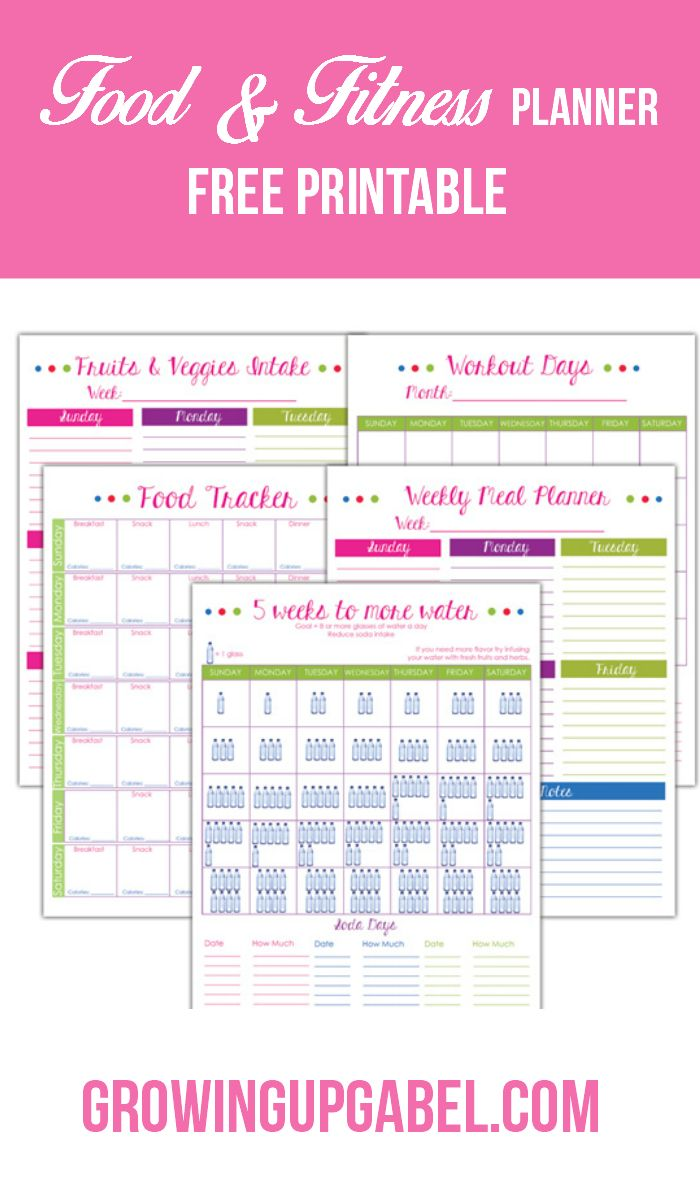 "Need help avoiding ""hanger""? Print this free fitness and food planner to help plan meals, track food and water, schedule work outs and more!  #Ad #ILoveSilkSoy"