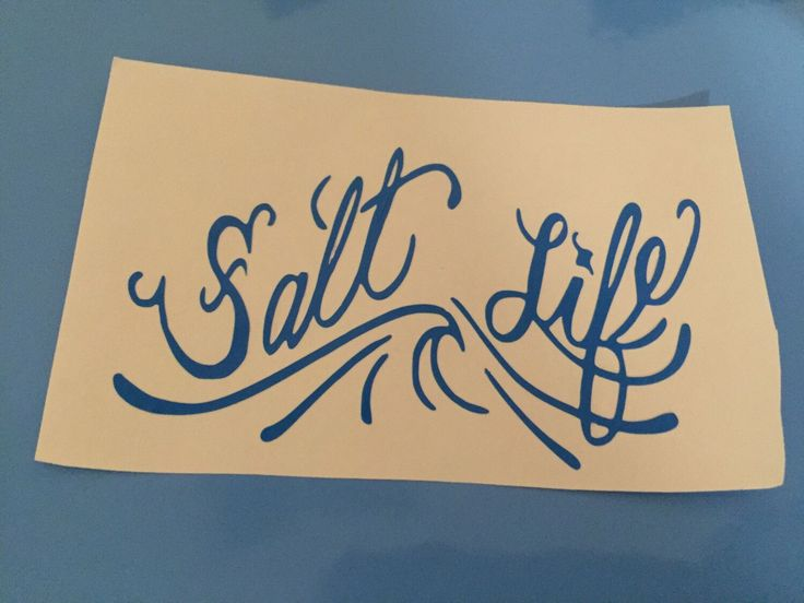 A personal favorite from my Etsy shop https://www.etsy.com/listing/463541234/salt-life-yeti-decal-salt-life-sticker