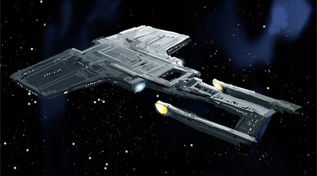 "The Bismarck-class Enterprise from the unproduced ""Star Trek: Final Frontier"" animated series."