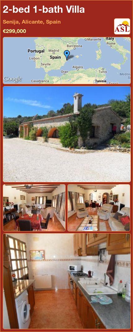 2-bed 1-bath Villa in Senija, Alicante, Spain ►€299,000 #PropertyForSaleInSpain