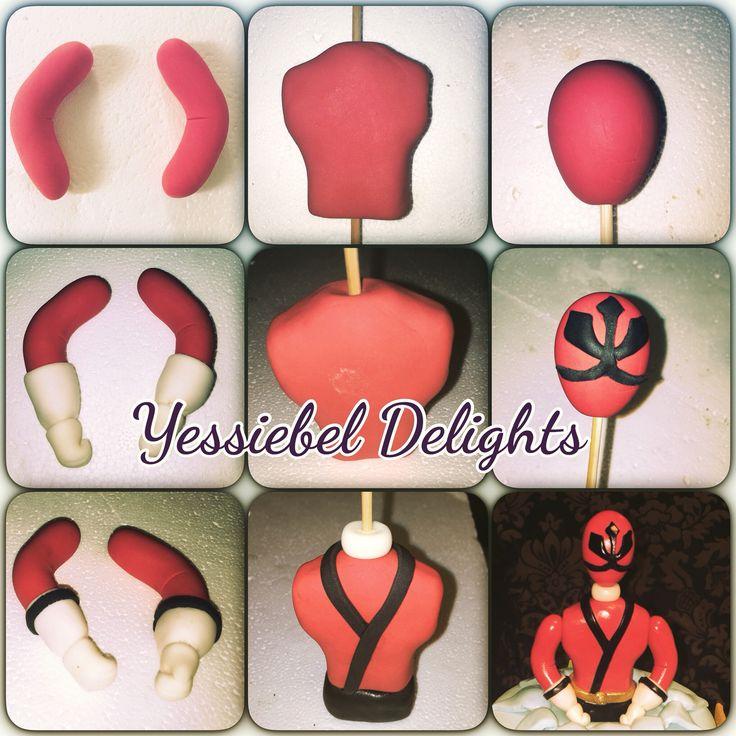 Red Power Ranger Samurai Gum Paste