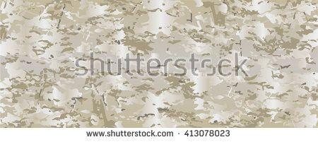 Multicam vector realistic camouflage pattern background editable. Desert badlands sand dirt camouflage pattern - stock vector