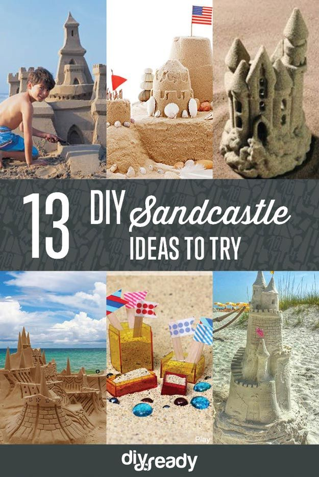 DIY Sandcastle Ideas | How To Build An Awesome Sand Castle at the Beach - Easy Tips from the Experts! http://diyready.com/diy-sandcastle-ideas/