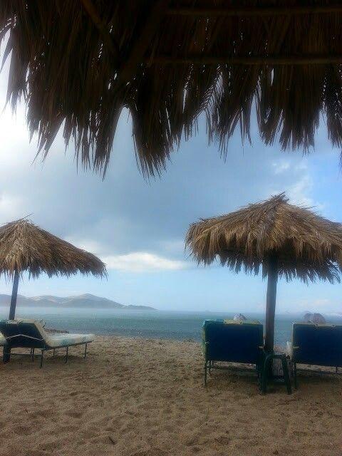 Summer rain in Tigaki Beach #KosIsland #Greece