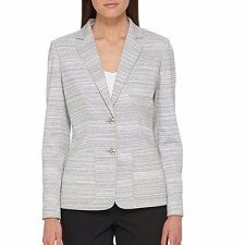 Our daily workwear reports suggest one piece of work-appropriate attire in a range of prices.    Ooh: apparently I'm into stripes this week. LOVE the striated, almost agate-like look of this blazer from Tommy Hilfiger. I also love that the blazer has functioning patch pockets, and a really versatile light gray color.  It's $139 at Lord & Taylor, but take 20% off with code SALE. Striped Button Front Blazer    Here's a similar blazer with more of a Southwestern vibe in lucky sizes down to only…