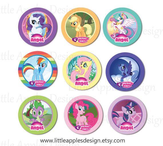 My Little Pony Cupcake Topper / My Little Pony Topper / My Little Pony ...