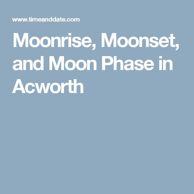 Moonrise, Moonset, and Moon Phase in Acworth