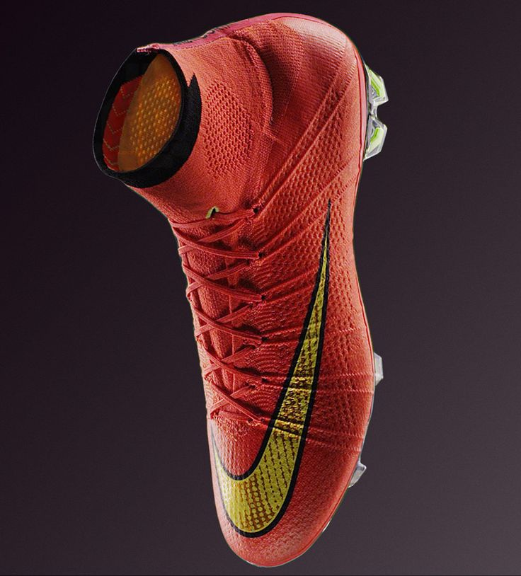 soccer red nike football boots with sock