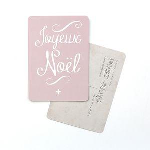 """Image of Carte Postale """"Joyeux Noël"""" (mona/ROSE POUDRÉ)"""