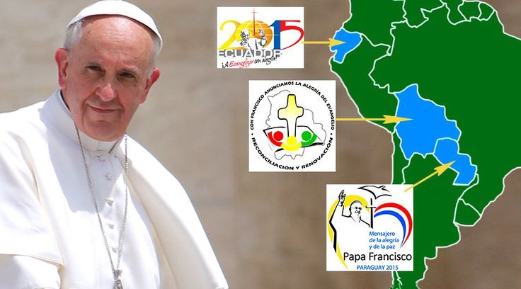 La Oficina de Prensa de la Santa Sede ha dado a conocer esta mañana el programa oficial del viaje del Papa Francisco a Ecuador, Bolivia y Paraguay, que se realizará del domingo 5 hasta el lunes 13 de julio cuando el Santo Padre regrese a Roma.