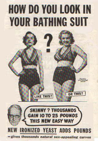 How times have changed...: Gain Weights, Dust Jackets, Books Jackets, Body Image, Bath Suits, Vintage Ads, Real Woman, Curves, Dust Covers