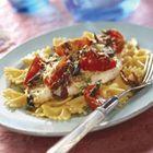 Pasta met mediterrane kabeljauw uit de oven