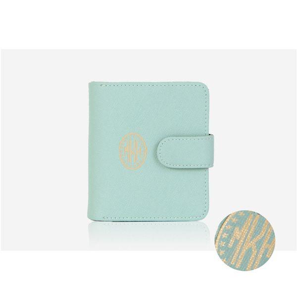 Mint - Leather Wallet Multi Pocket Purse from mozzin by DaWanda.com