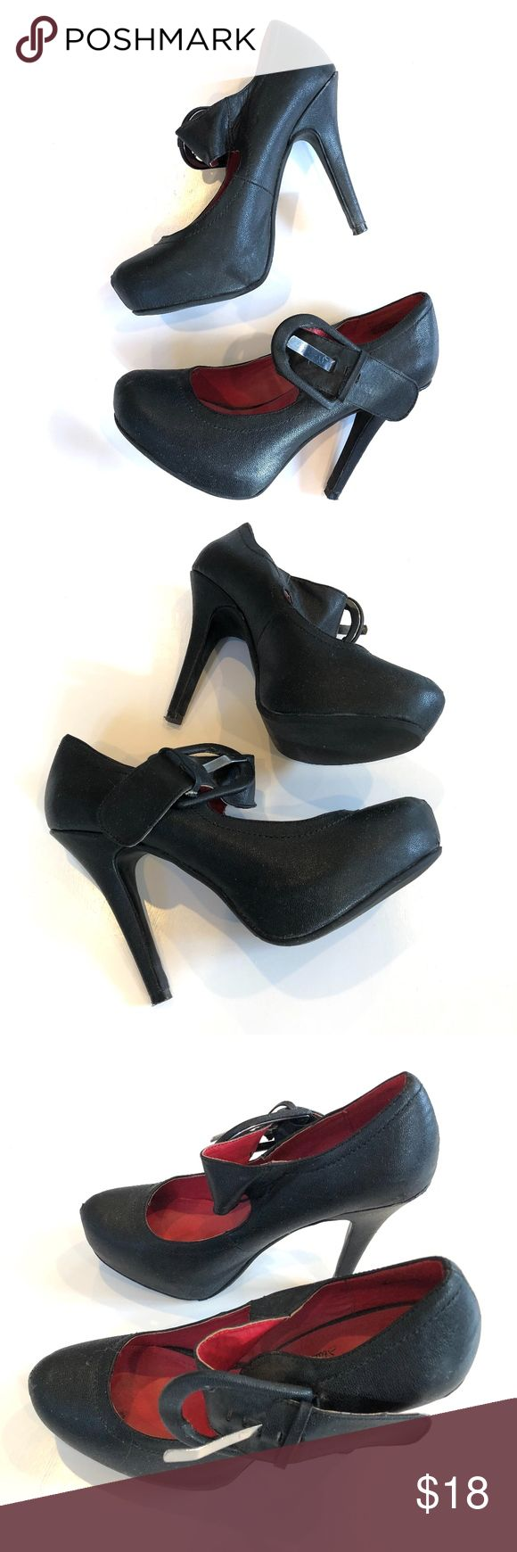 Madeline Stewart Black Mary-Jane Heels Size 7M Up for sale preowned pair of Black Mary Jane Heels, shoes show slight wear, back of the heels has some scratches, please see photos for details and condition of the shoe. Size 7M. Check out my closet, bundle and give me your offer! Madeline Stuart Shoes Heels