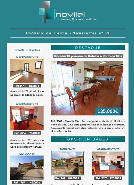 Newsletter nº 39 do dia 26 de Outubro - Imóveis de Leiria. Link - https://goo.gl/xQoeqs  #newsletter #imoveis #leiria #realestate #imobiliaria #novilei #blog