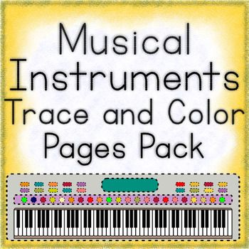 This pack contains:  String Orchestra Instruments Trace and Color Page  Woodwind Instrument Trace and Color Pages  Brass Instrument Trace and Color Pages  Keyboard Musical Instrument Trace and Color Pages  Percussion Instrument Trace and Color Pages  There are 45 trace and color pages in total.