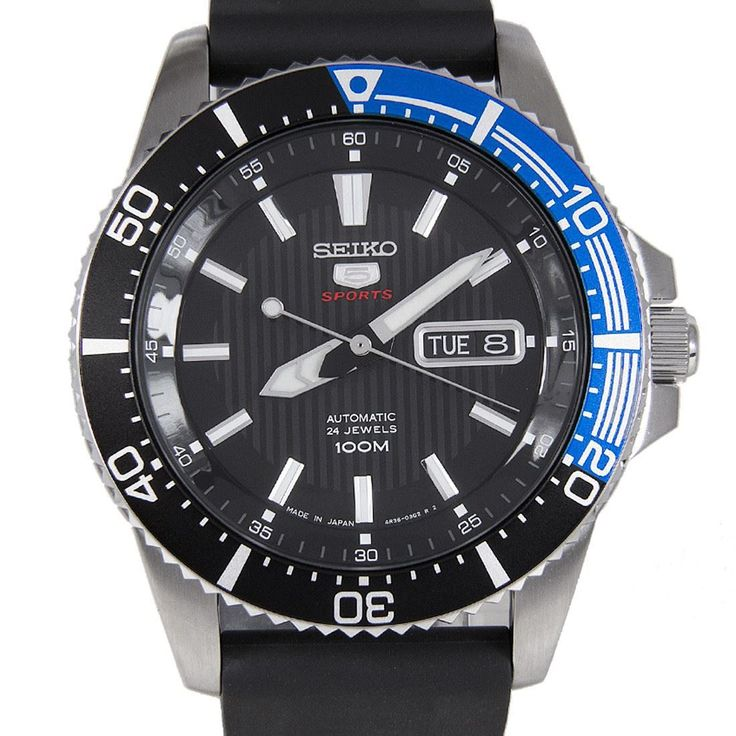 Sports Watch Store - Seiko 5 Sports Automatic Watch SRP555J1 SRP555, $176.00 (http://www.sports-watch-store.com/seiko-5-sports-srp555j1)