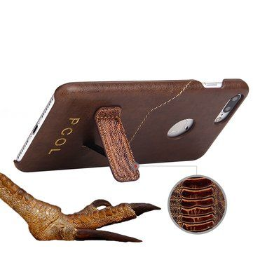 PCOL Genuine Leather Wallet Kickstand Case Card Slot For iPhone 7 Plus 5.5 Inch Sale - Banggood.com