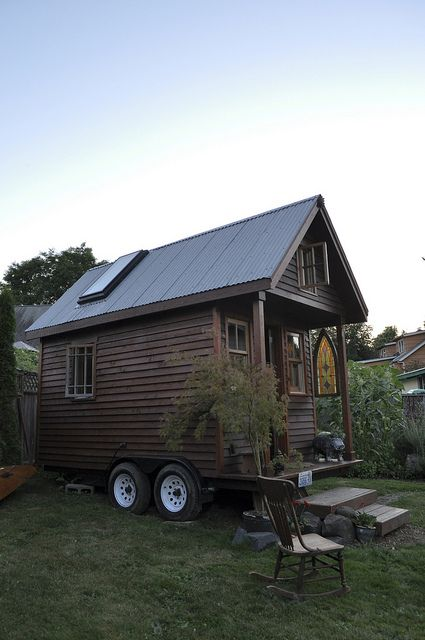 tiny house on wheels, amazing interior too