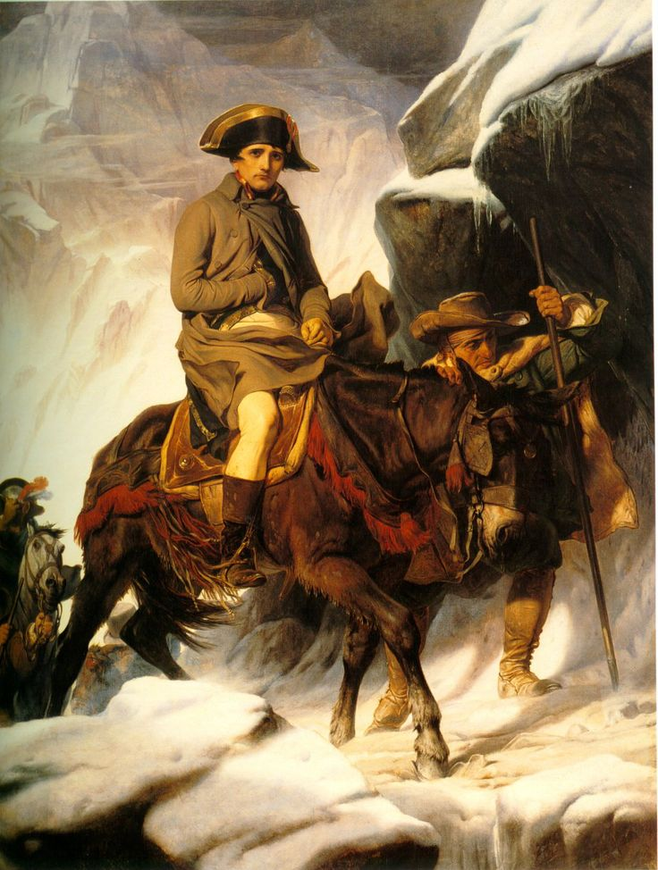 Napoleon Crossing the Alps (1850) by Paul Delaroche