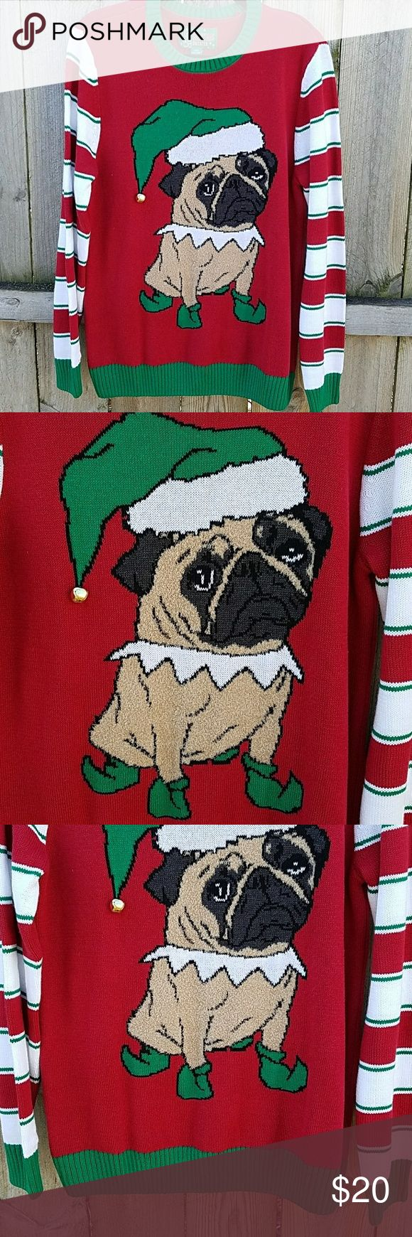 NEW Pug Dog Christmas Ugly Sweater Women's Size Medium BRAND NEW WITH TAGS ugly christmas sweater Sweaters Crew & Scoop Necks