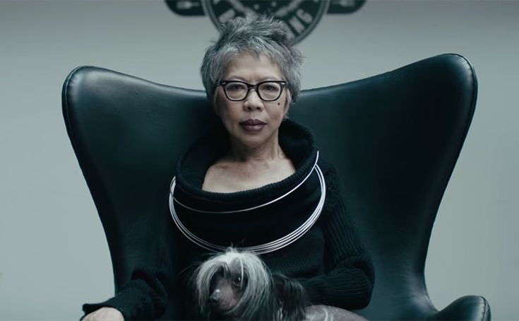 SBS newsreader Lee Lin Chin in the new 'Lamb on Australia Day' ad.