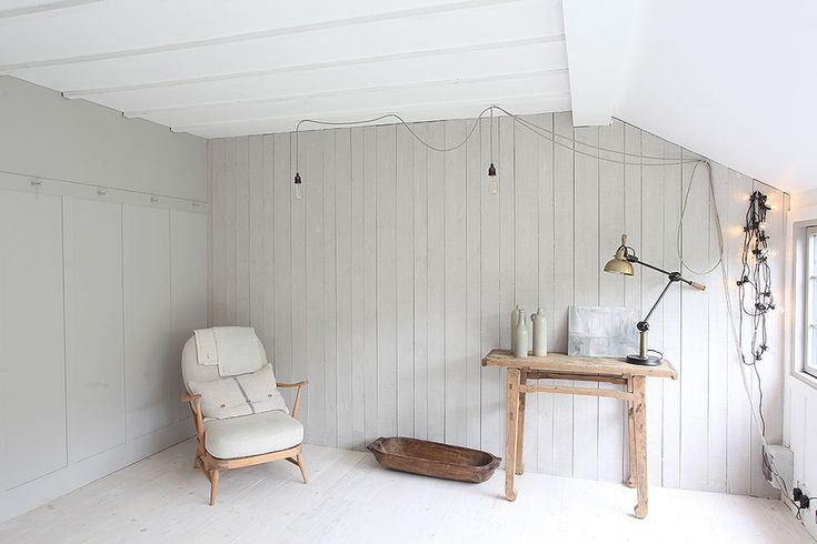 A beautiful home tour of a traditional British summerhouse in London painted in Little Greene's French Grey and Farrow & Ball's Off Black - photos by Light