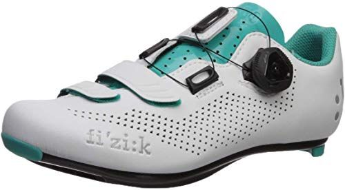 White//Turquoise Fizik Womens R3B Donna Boa Road Sport Cycling Shoes