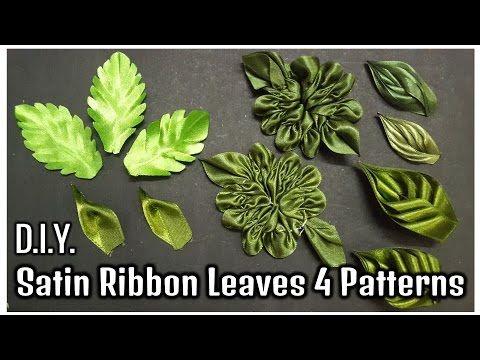 D.I.Y. Satin Ribbon Leaves | 4 Patterns | MyInDulzens - YouTube