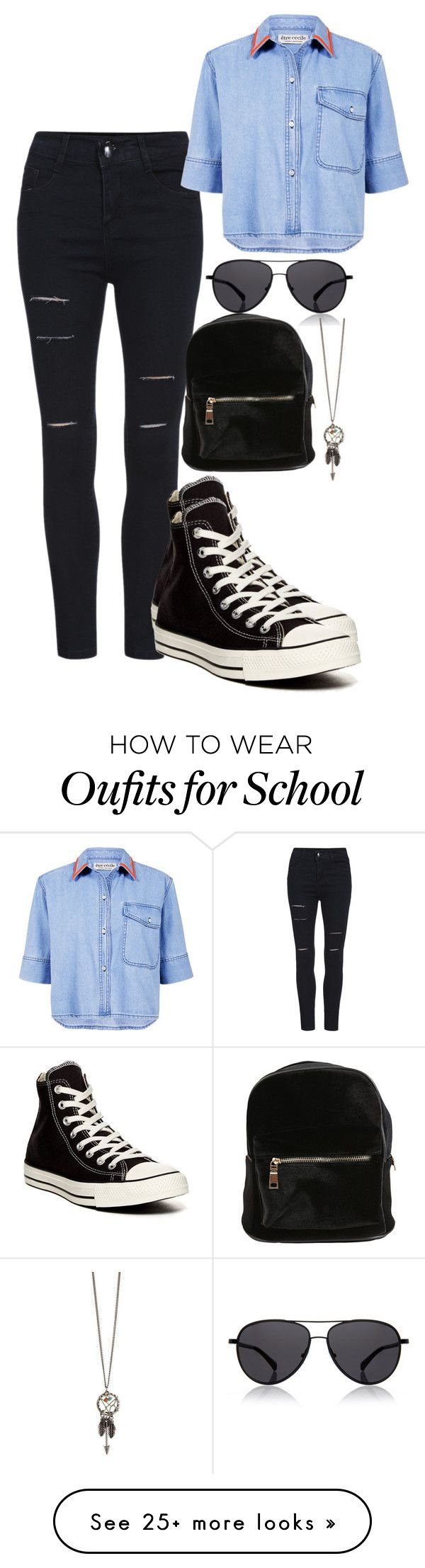 """School Casual"" by chap15906248 on Polyvore featuring The Row, Être Cécile and Converse"