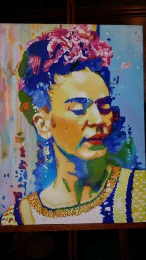 Frida Kahlo tela 60 x 80 cm