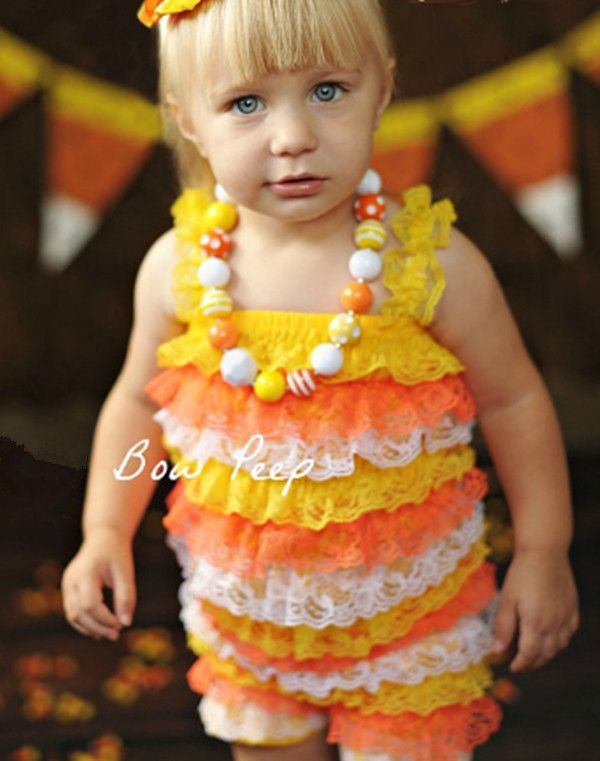 >> Click to Buy << Baby Candy Corn Lace Romper Halloween Lace Petti Rompers Infant Girl Halloween Costume Outfit Romper Leg Warmer Set #Affiliate