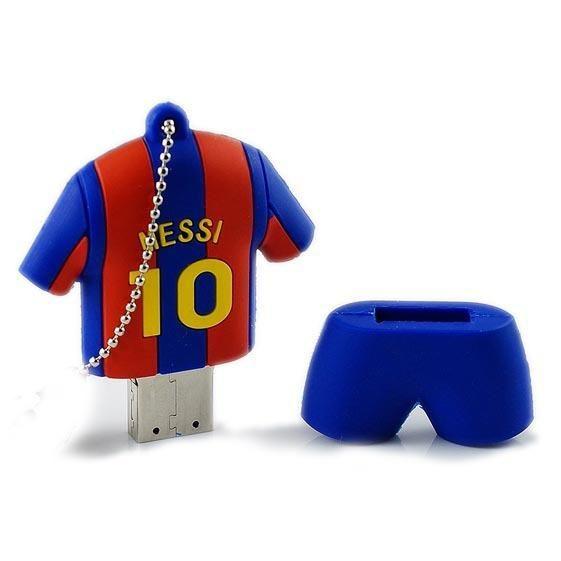 [Visit to Buy] Messi Barcelona jersey Flash Drive 4GB 8GB 16GB 32GB 64GB 10 Hao cartoon pen drive U disk fine jersey #Advertisement