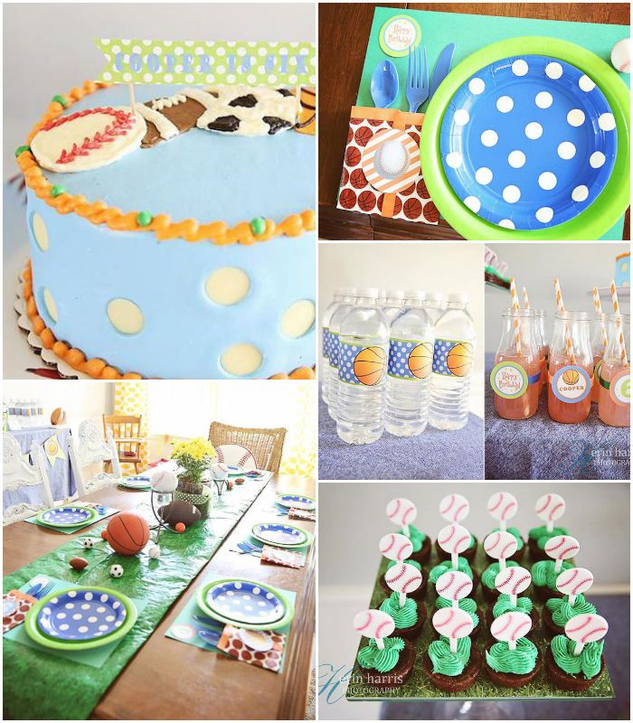 All Star + Sports Themed Birthday Party