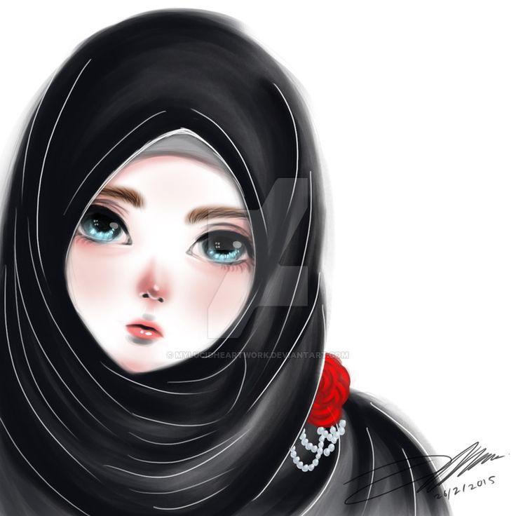 Black Hijab Beauty