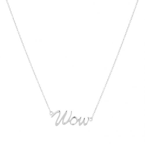 Wow necklace in silver.