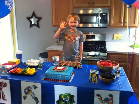 the birthday boy right before his friends arrived