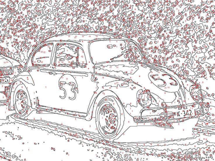 Malen Nach Zahlen Kaefer Auto Png 1000 215 750 Color By